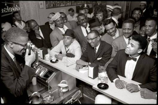 Malcolm X and Ali at Hampton House